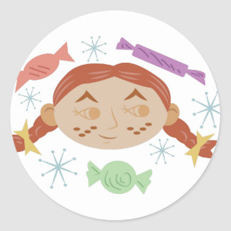 Sugar & Spice Girl Classic Round Sticker