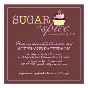 Sugar And Spice Invitations Announcements Zazzle