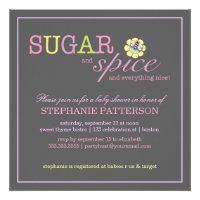 Sugar & Spice It's a Girl Baby Shower Invitation