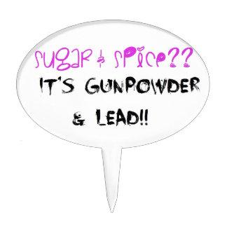 Sugar & Spice? It's Gunpowder & Lead!! Cake Topper