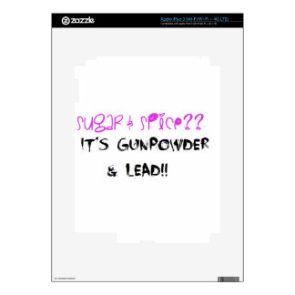 Sugar & Spice? It's Gunpowder & Lead!! iPad 3 Skins