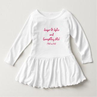 SUGAR & SPICE LITTLE WHITE SWEET DRESS FOR GIRLS