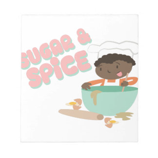 Sugar & Spice Notepad