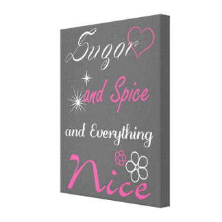 Sugar & Spice Pink and Gray Nursery Wall Art