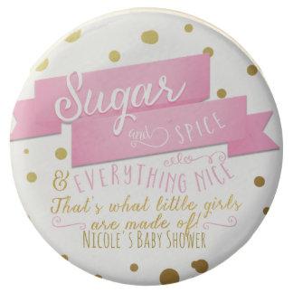 Sugar & Spice Pink & Gold Baby Shower Favor