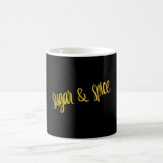Sugar & Spice Quote Faux Gold Foil Glitter Classic White Coffee Mug