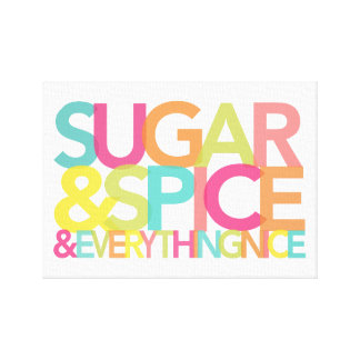Sugar & Spice Wrapped Canvas print