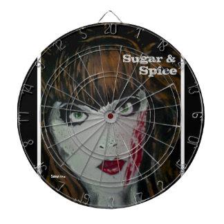 'Sugar & Spice' (zombie) Dart Board