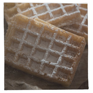 Sugar Sprinkled Brussels Waffles Cloth Napkin