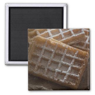 Sugar Sprinkled Brussels Waffles Magnet