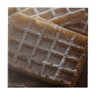 Sugar Sprinkled Brussels Waffles Tile