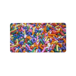 Sugar Sprinkles Personalized Address Labels