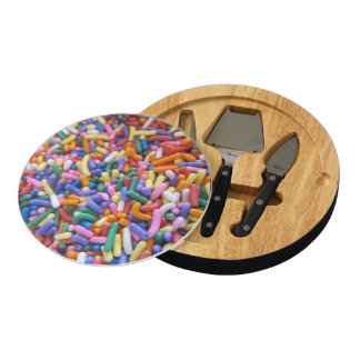 Sugar Sprinkles Round Cheese Board