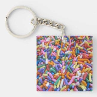 Sugar Sprinkles Square Acrylic Key Chains