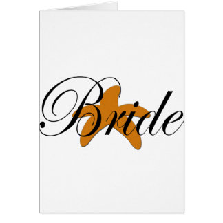 Sugar Starfish Bride Greeting Card