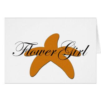 Sugar Starfish Flower Girl Cards