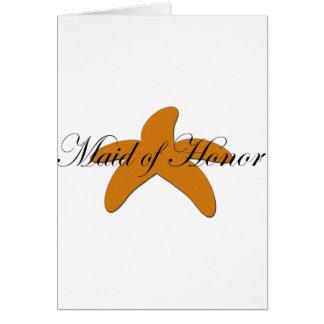 Sugar Starfish Maid of Honor Card