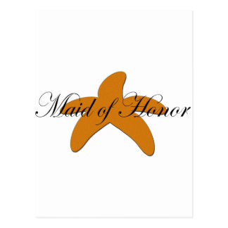 Sugar Starfish Maid of Honor Postcard