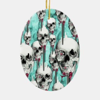 Sugar Sugar Melting Skull Pops Ceramic Ornament