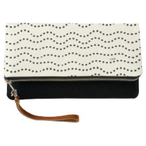 Sugar Surfing Dots (Black) Clutch