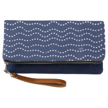 Sugar Surfing Dots (Indigo) Clutch