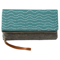Sugar Surfing Dots (Teal) Clutch