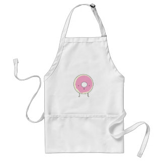 Sugar Table Snack Sweets Dessert Food Pink Donut Adult Apron