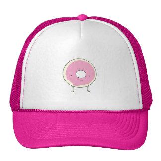 Sugar Table Snack Sweets Dessert Food Pink Donut Trucker Hat