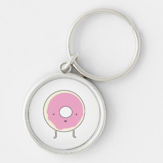 Sugar Table Snack Sweets Dessert Food Pink Donut Keychain