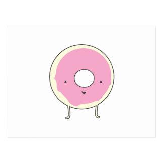 Sugar Table Snack Sweets Dessert Food Pink Donut Postcard