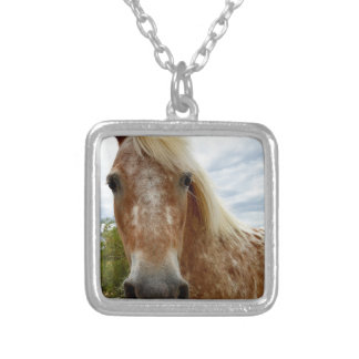 Sugar The Appaloosa Horse,_ Silver Plated Necklace