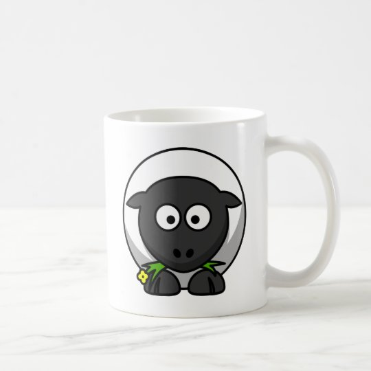 Sugar the Cute Cartoon Sheep Coffee Mug