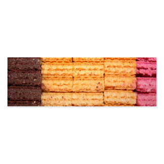 Sugar Wafer Cookies Double-Sided Mini Business Cards (Pack Of 20)