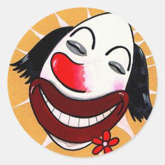 Sugar Weasel the Clown Cartoon Head Sticker