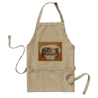 sugar word apron