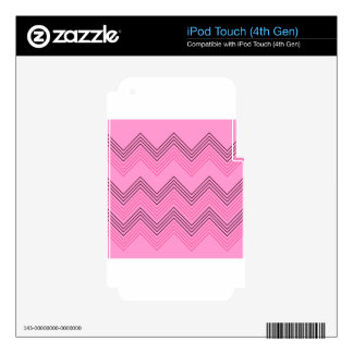Sugar zigzag Stripes Vintage Skin For iPod Touch 4G