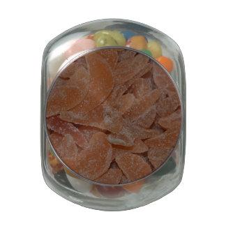 Sugared Orange Jelly Bean Jar Glass Jars