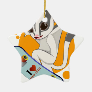 Sugarglider skater ceramic ornament