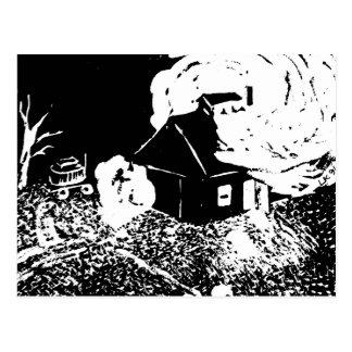 Sugarhouse at Night Postcard