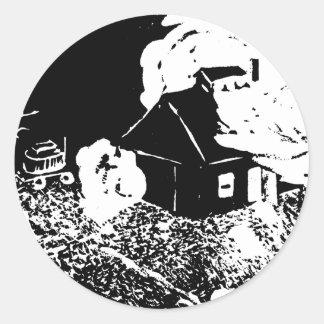 Sugarhouse at Night Sticker