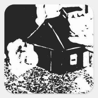 Sugarhouse en la noche colcomanias cuadradass