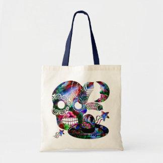 Sugarland Psychedelic Grinnin' Skull Mexicano Tote Bag