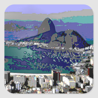 SugarLoaf and Guanabara Bay Square Sticker