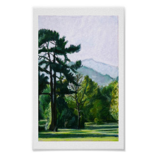 Sugarloaf Mountain from Abergavenny Wales Poster