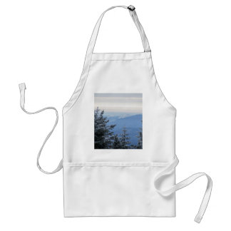 Sugarloaf Mountain on the Horizon in Maine Adult Apron