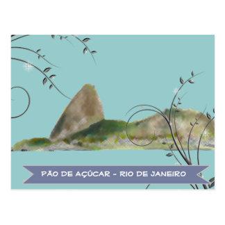 sugarloaf mountain, rio de janeiro postcard