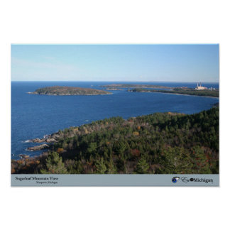 Sugarloaf Mountain View - Marquette MI Posters