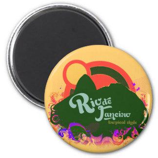 Sugarloaf Rio de Janeiro 2 Inch Round Magnet
