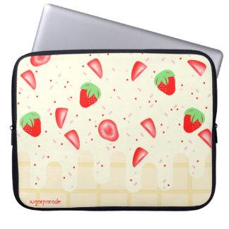 sugarparade Strawberries and Cream Laptop Sleeve