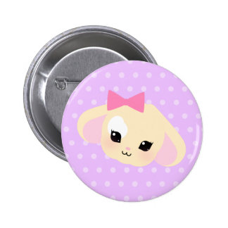 sugarparade Usagi-chan Lavender Dot Button
